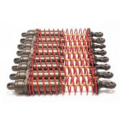 Big Bore shocks (xx-long) (hard-anodized & PTFE-coated T6 aluminum) (assembled) w/ red springs,