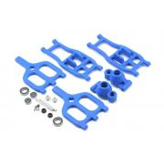 True-Track Rear A-Arm Conversion, Blue: T-Maxx 3.3 / E-Maxx